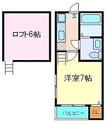 グランコンフォール花京院II 1階1Kの間取り