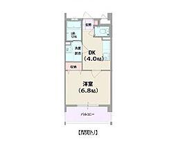 una villa /華II 4階1DKの間取り