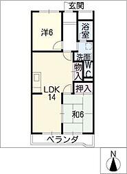 シャトースサキI[3階]の間取り