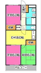 所沢メゾン2号館[3階]の間取り