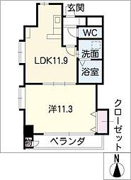 プロビデンス葵タワー[8階]の間取り