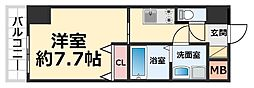 CROUD尼崎 6階1Kの間取り