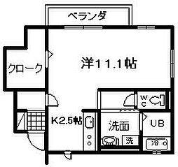 大阪府岸和田市春木旭町の賃貸アパートの間取り