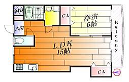 パステルコート千里[2階]の間取り