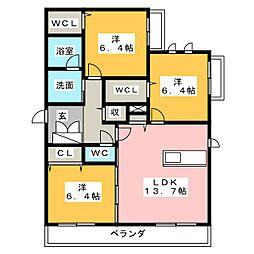 希世館[4階]の間取り