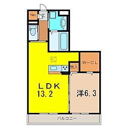 仮)D−ROOM刈谷市矢場町 B棟[1051号室]の間取り