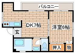兵庫県神戸市須磨区前池町3丁目の賃貸マンションの間取り