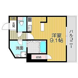 京阪本線 土居駅 徒歩3分の賃貸マンション 8階1Kの間取り