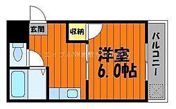 岡山県倉敷市川西町丁目なしの賃貸マンションの間取り