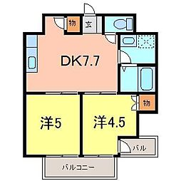 一ツ木マンション3[2階]の間取り