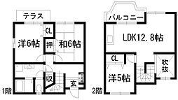 [テラスハウス] 兵庫県川西市大和西1丁目 の賃貸【/】の間取り