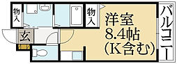 コモドハイツ・クゥ[1階]の間取り