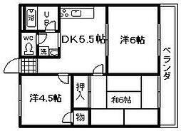 煌 壱番館[3階]の間取り