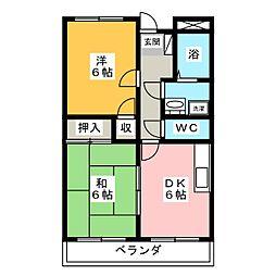リンピア増田[2階]の間取り