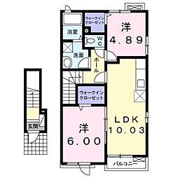 ラフレシールK[2階]の間取り