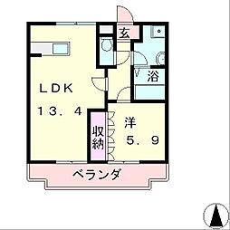滋賀県愛知郡愛荘町目加田の賃貸アパートの間取り