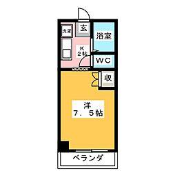 サンハイツK[3階]の間取り