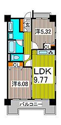 コンフォール・ノグチ[3階]の間取り
