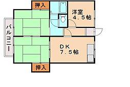 ウインズ那珂川II[2階]の間取り