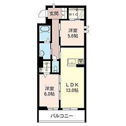 仮称 草加市草加5丁目SHM[3階]の間取り