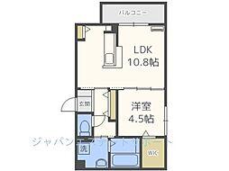 D-room博多駅南 弐番館[201号室]の間取り