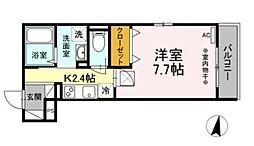 小田急小田原線 相武台前駅 徒歩6分の賃貸アパート 2階1Kの間取り