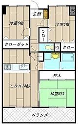 アビタシオン・オキ[8階]の間取り