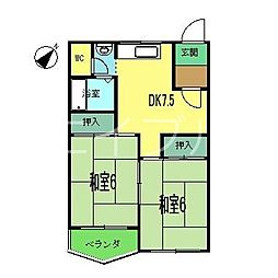 岡林マンション[2階]の間取り