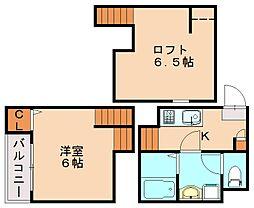 エスペランザ[2階]の間取り