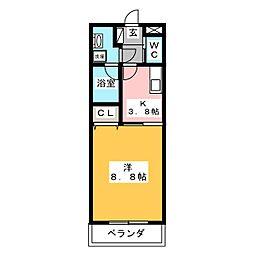 メルベーユSUGIMOTO[1階]の間取り