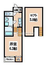 桜寺前[1階]の間取り