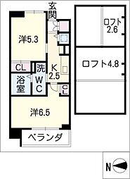 エステムコート名古屋駅前CORE 505号[5階]の間取り