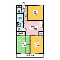 第2穂光ビル[2階]の間取り