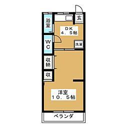 春栄荘[2階]の間取り