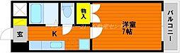 JR山陽本線 岡山駅 バス20分 バス平津橋下車 徒歩4分の賃貸マンション 3階1Kの間取り