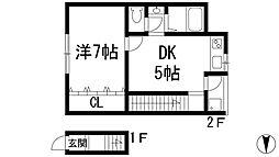 フレンド仁川[2階]の間取り