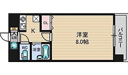 エクセレント上新12[5階]の間取り