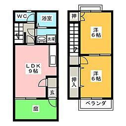 [テラスハウス] 愛知県江南市高屋町旭 の賃貸【/】の間取り