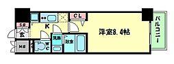 Osaka Metro堺筋線 堺筋本町駅 徒歩3分の賃貸マンション 5階1Kの間取り