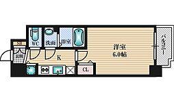 プレサンス新大阪コアシティ 8階1Kの間取り