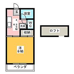 魯迅館[2階]の間取り