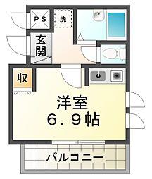 ル・シール平井[2階]の間取り
