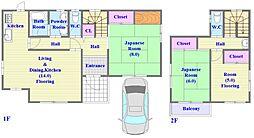 [一戸建] 兵庫県神戸市垂水区小束山6丁目 の賃貸【/】の間取り