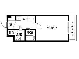 オズコート神戸本山[20D号室]の間取り