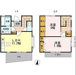 [テラスハウス] 東京都練馬区北町5丁目 の賃貸【/】の間取り