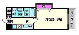 ラグゼ桜ノ宮[4階]の間取り