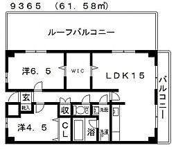 ハイグレード高井田[806号室号室]の間取り