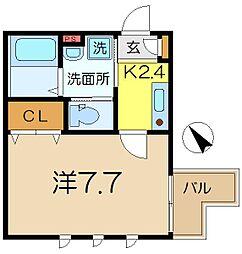 シェルムラフィナート[1階]の間取り