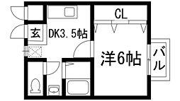 兵庫県宝塚市大成町の賃貸マンションの間取り
