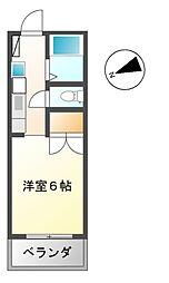 三恵ハイツ[3階]の間取り